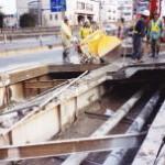 橋桁床板取替工事
